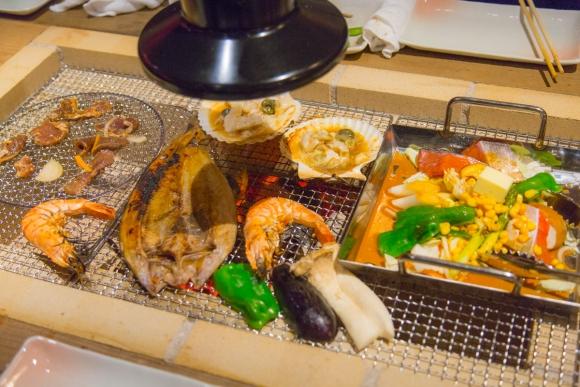都内で食べる北海道産地の海鮮炭火焼きバーベキュー    東京・新橋・銀座「銭函バーベキュー」