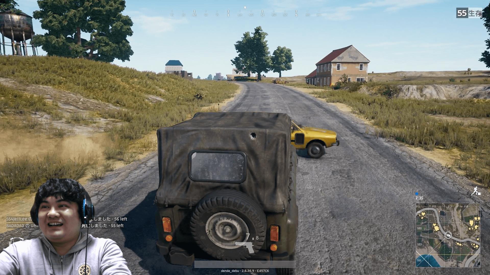 目の前に車が・・・・
